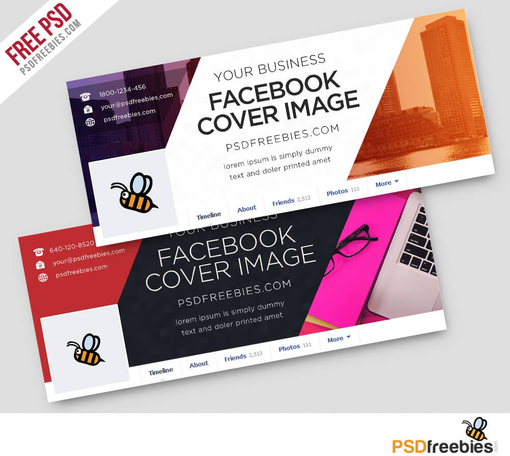 Corporate Facebook Covers Free Psd Template | Psdfreebies Throughout Facebook Banner Template Psd
