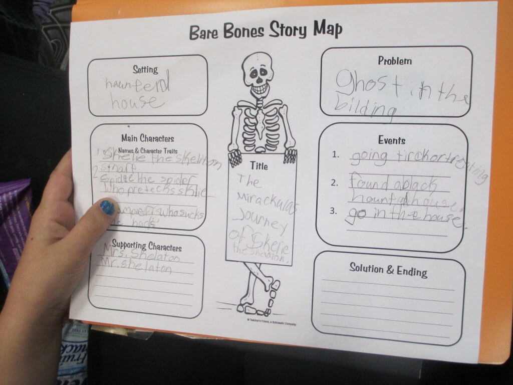 Crafty Symmetric Skeletons | Scholastic With Regard To Skeleton Book Report Template