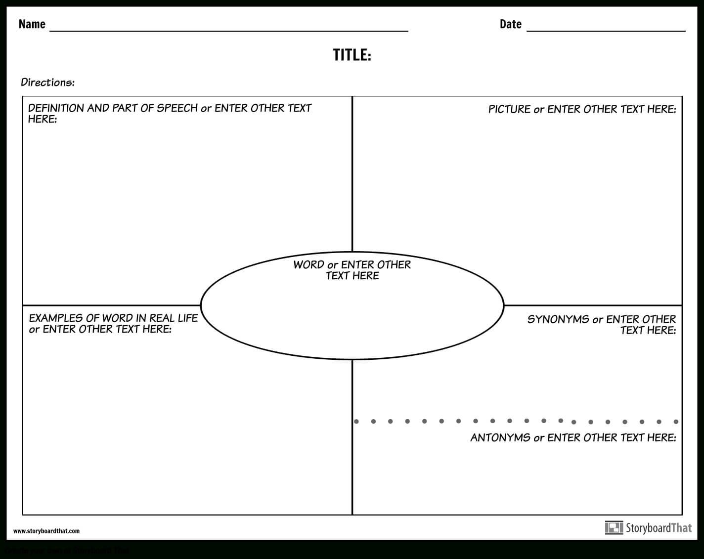 Create Vocabulary Worksheets   Vocabulary Templates Inside Vocabulary Words Worksheet Template