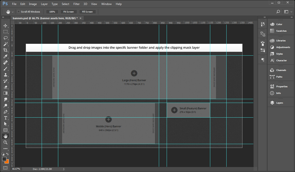 Creating Banner Images Using A Template – Documentation For In Banner Template For Photoshop