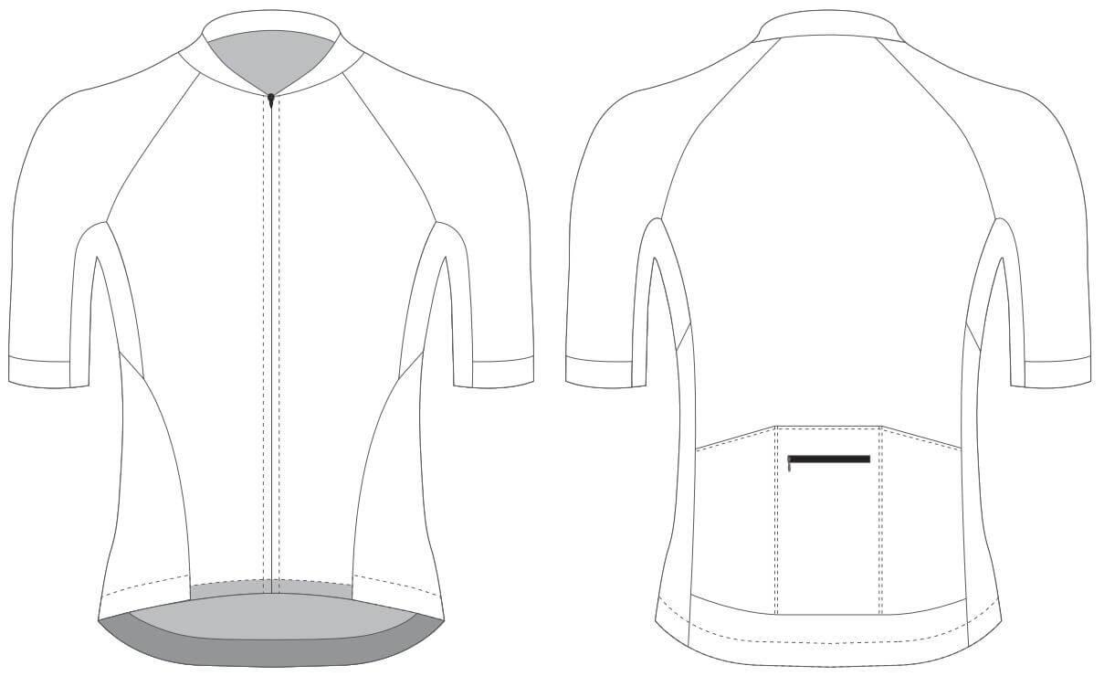 Custom Blank Cycling Jersey Design Template - Cyclingbox For Blank Cycling Jersey Template