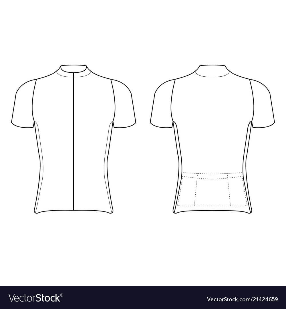 Cycling Jersey Design Blank Of Cycling Jersey Regarding Blank Cycling Jersey Template