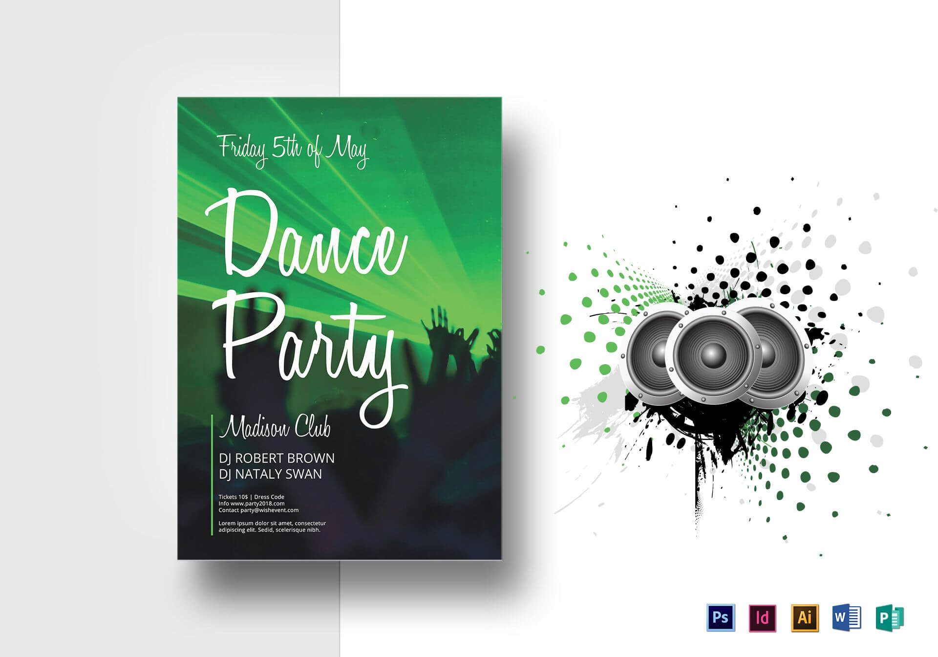 Dance Party Flyer Template With Dance Flyer Template Word