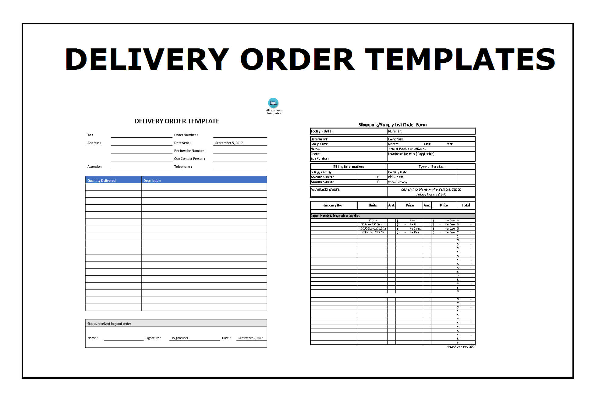Delivery Order Template | Topics About Business Forms Within Proof Of Delivery Template Word