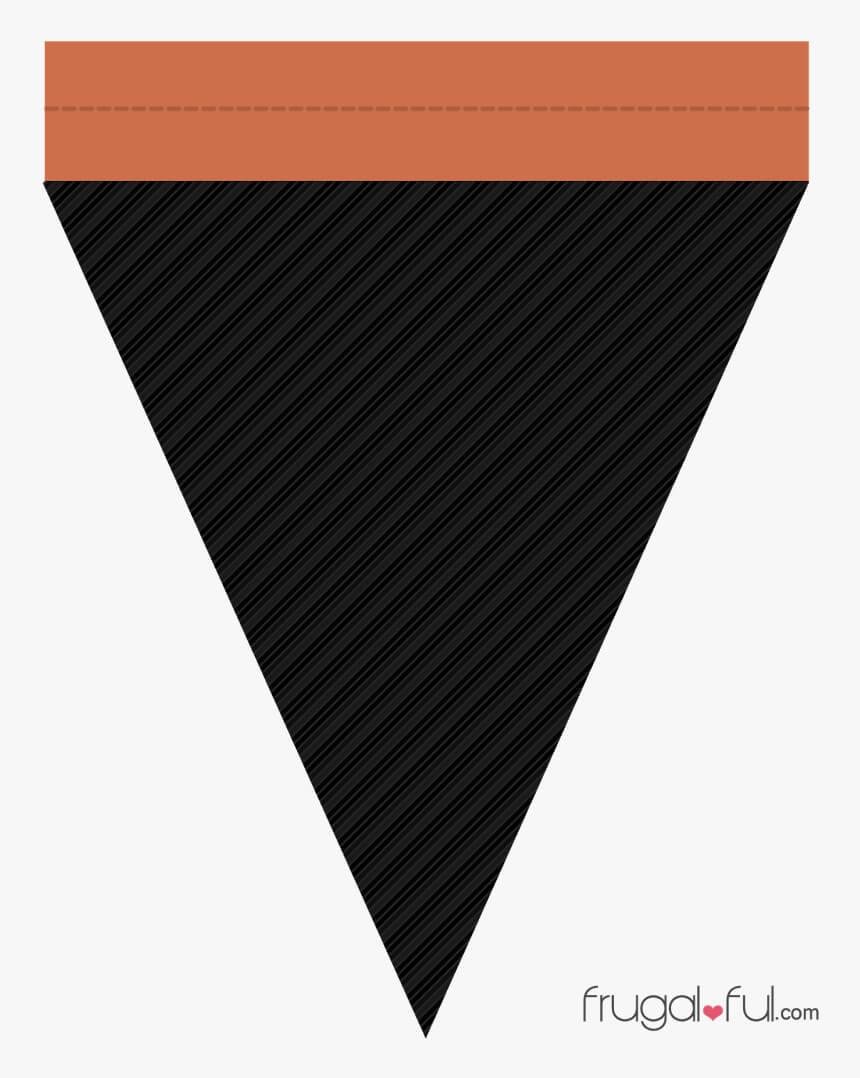 Diy Free Printable Halloween Triangle Banner Template Pertaining To Triangle Banner Template Free