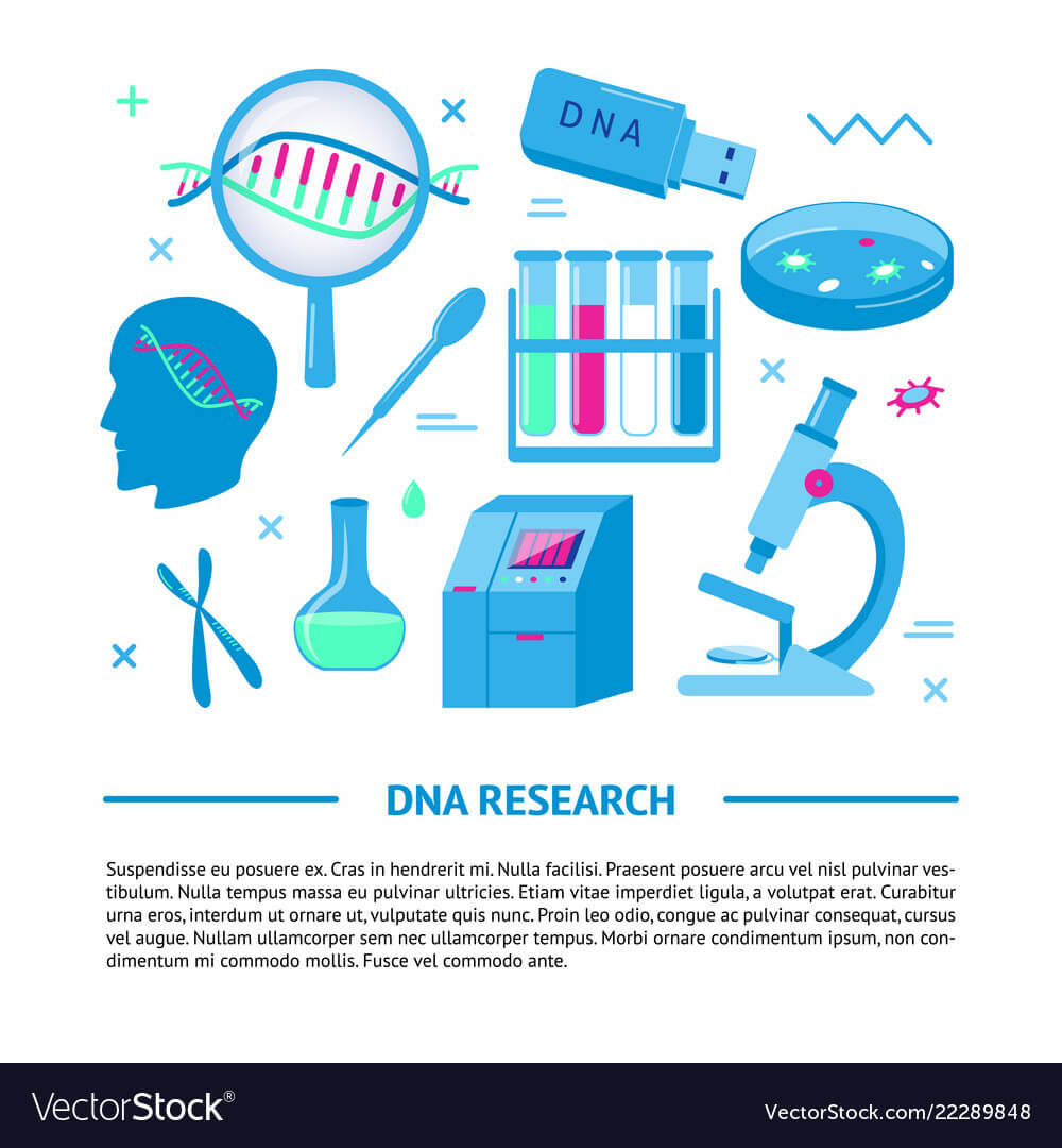Dna Research Medical Banner Template In Flat Style Throughout Medical Banner Template