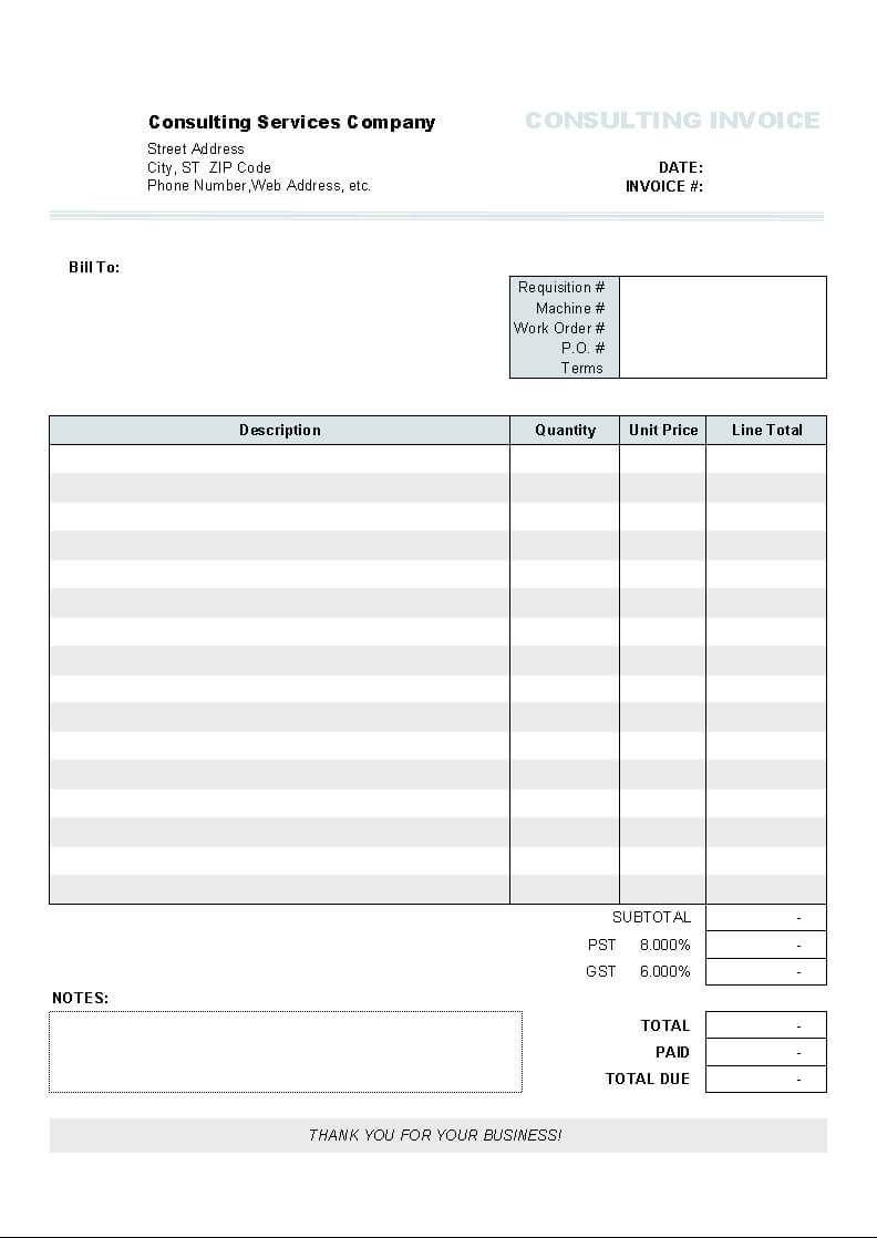 Download Clothing Store Invoice Template For Uniform Intended For Free Downloadable Invoice Template For Word