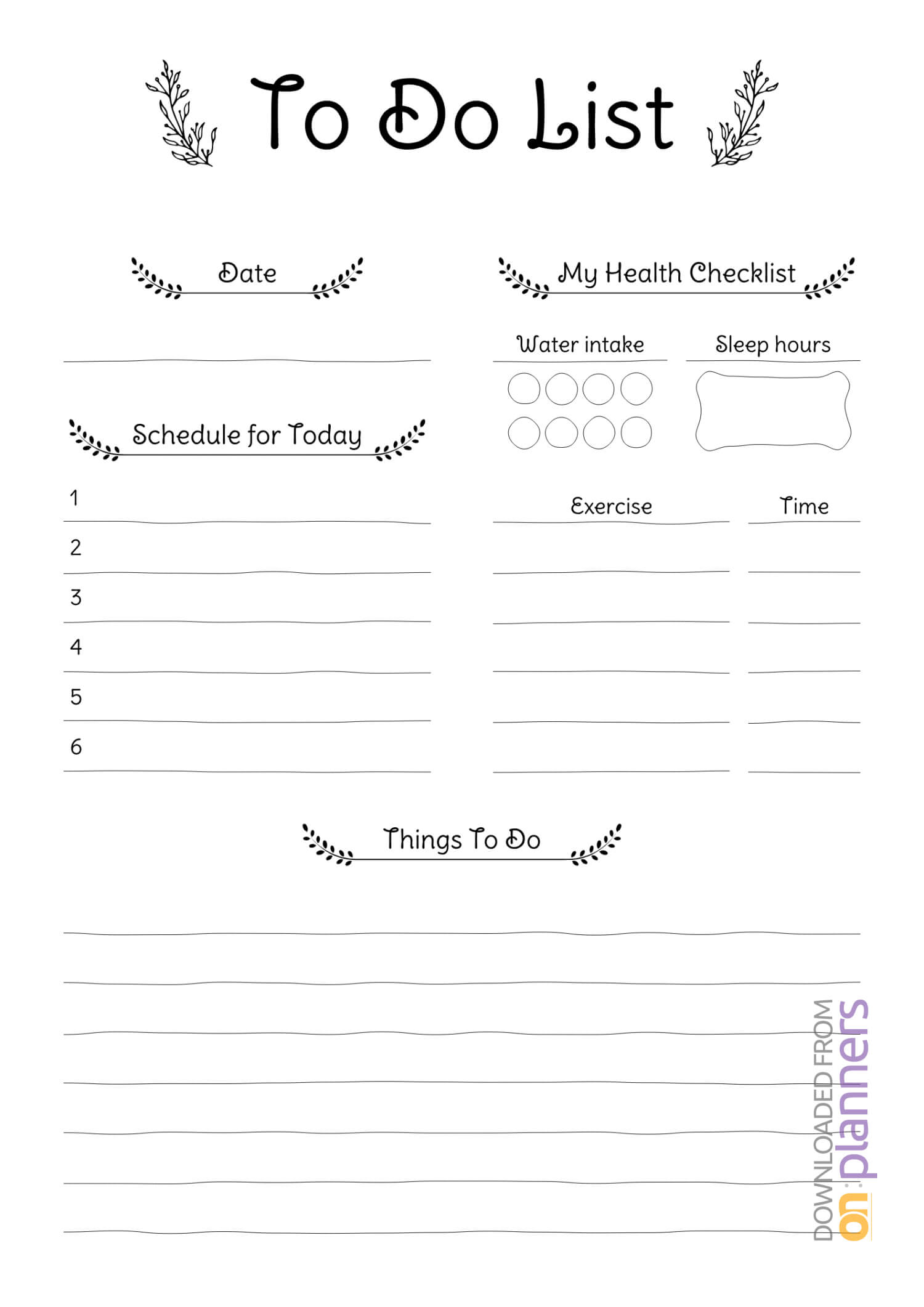 Download Printable Daily To Do List Pdf In Blank Checklist Template Pdf