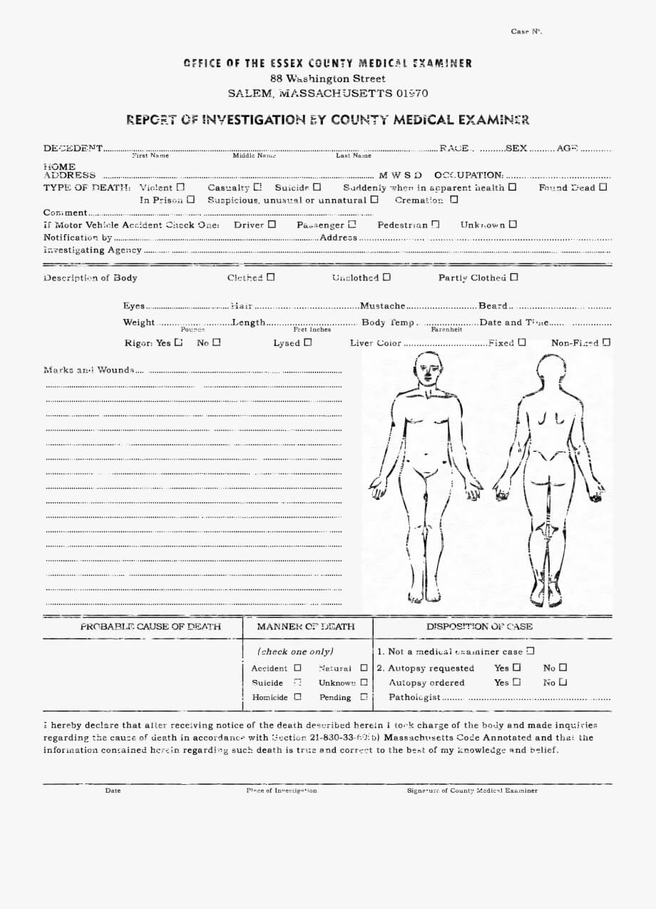 Downloads Cthulhu Reborn Miscellaneous – Autopsy Report Throughout Blank Autopsy Report Template