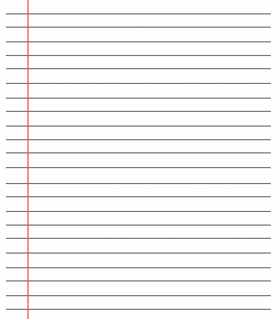 ❤️20+ Free Printable Blank Lined Paper Template In Pdf❤️ Inside Ruled Paper Template Word