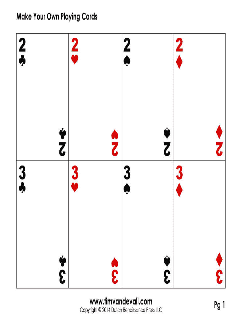 Editable Playing Card Template – Fill Online, Printable Within Playing Card Template Word
