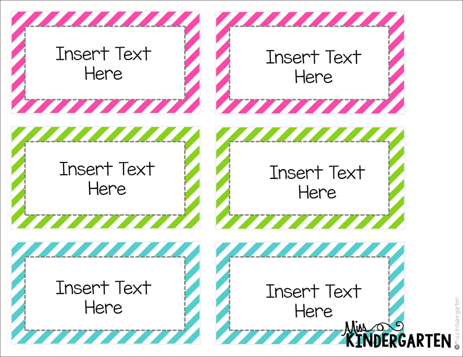 Editable Word Wall Templates! - Miss Kindergarten In Blank Word Wall Template Free