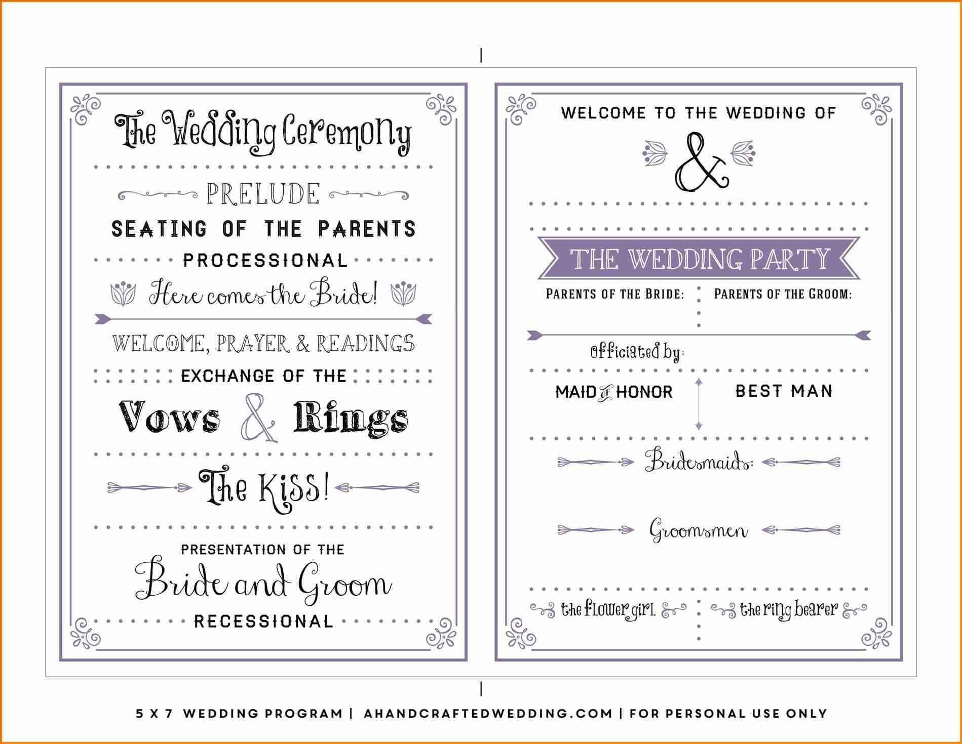 Elegant Microsoft Word Wedding Program Template 004 One Page Inside Wedding Seating Chart Template Word