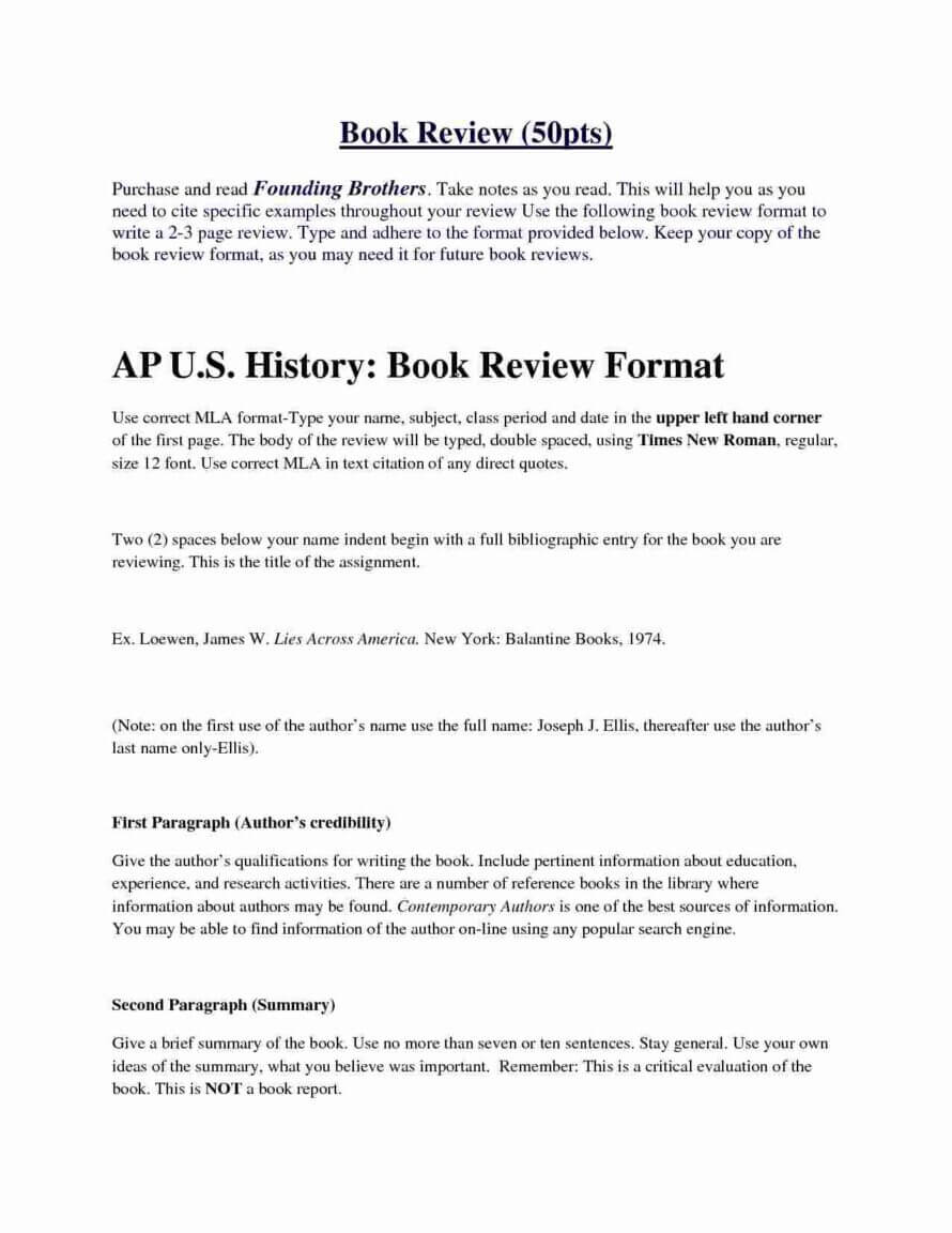 Example Book Review Essay Writing Examples Sample Apa Paper Regarding 1St Grade Book Report Template