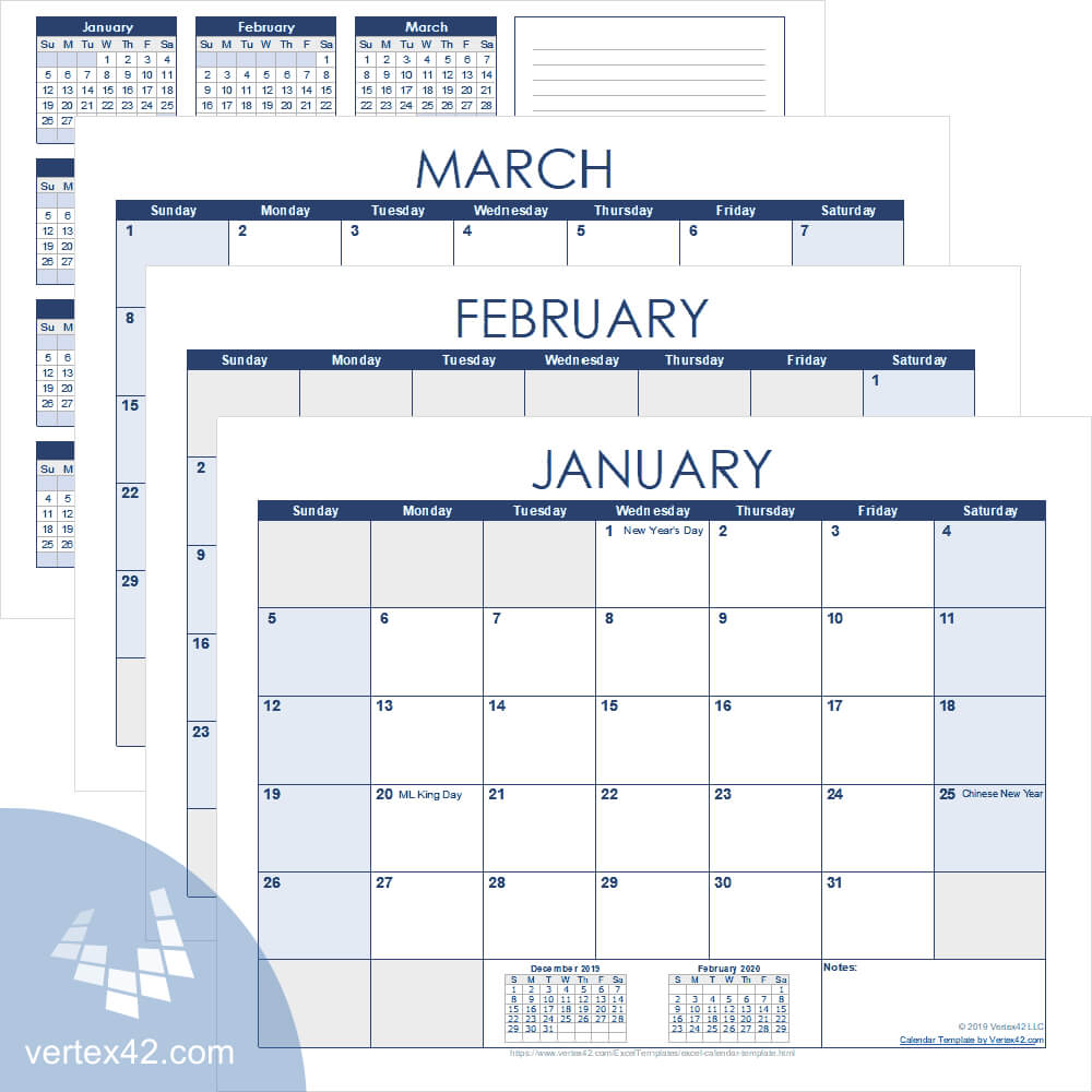 Excel Calendar Template For 2020 And Beyond With Regard To Blank Scheme Of Work Template
