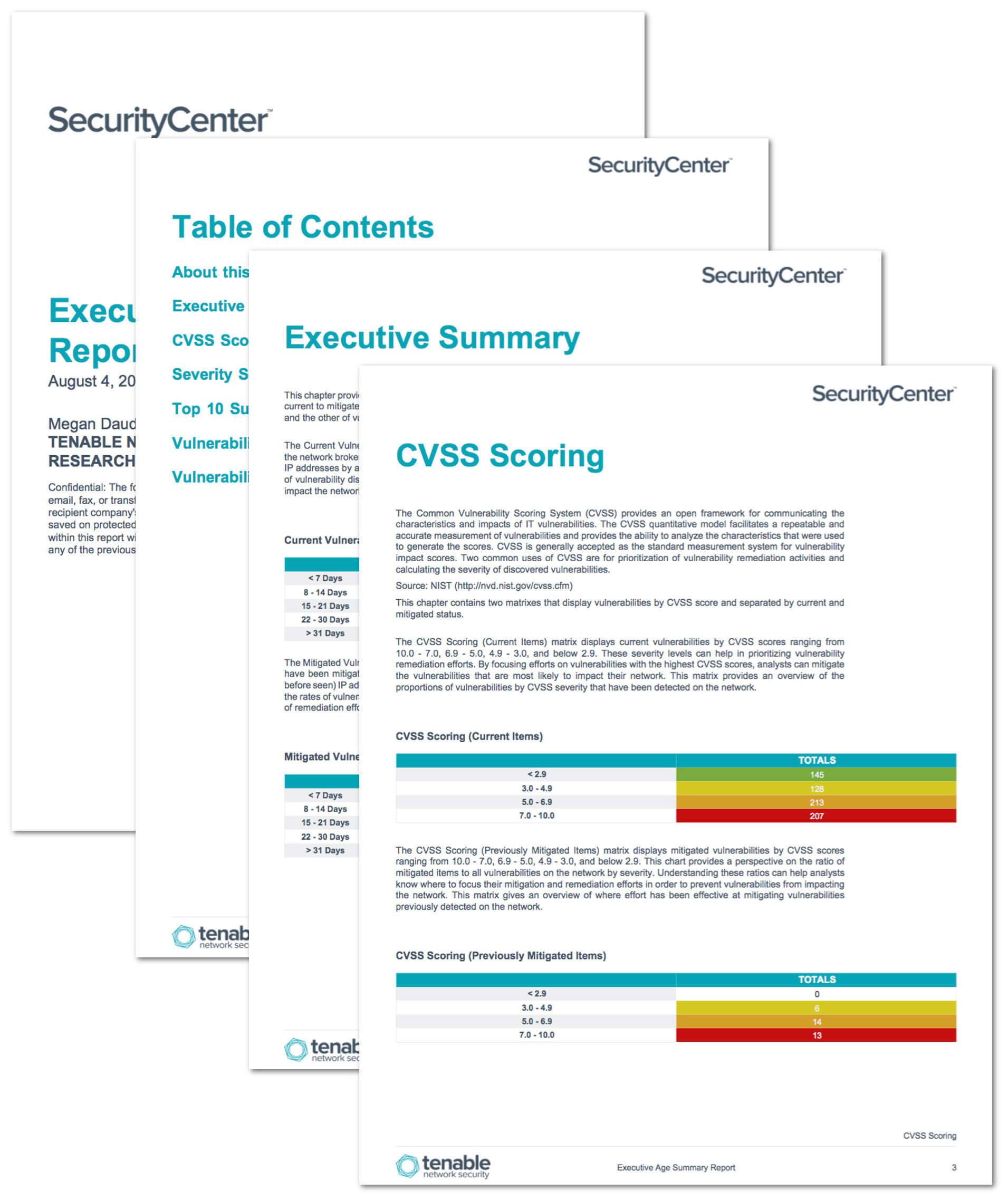 Executive Age Summary Report – Sc Report Template   Tenable® Within Executive Summary Report Template