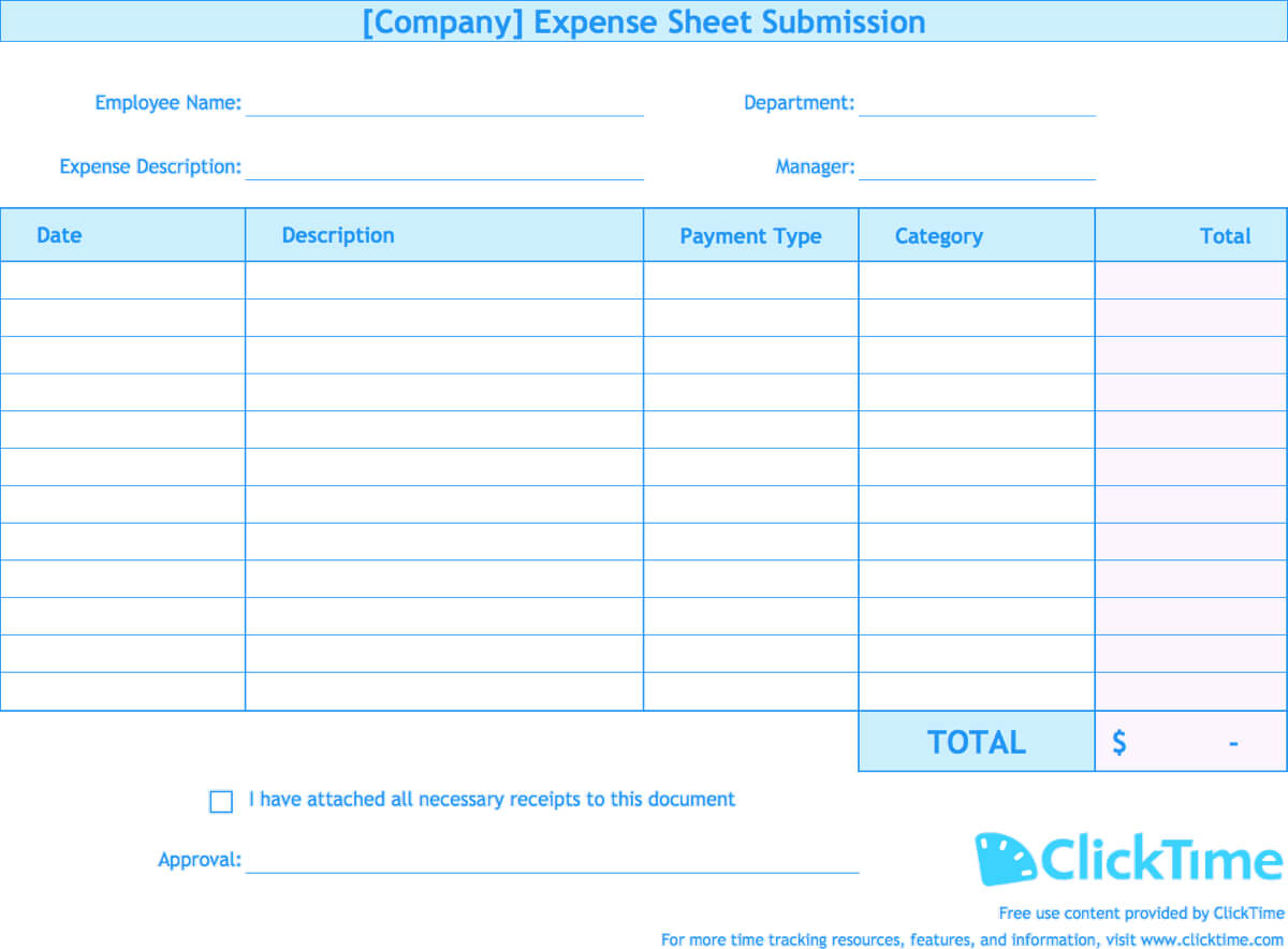 Expense Report Template | Track Expenses Easily In Excel With Company Expense Report Template