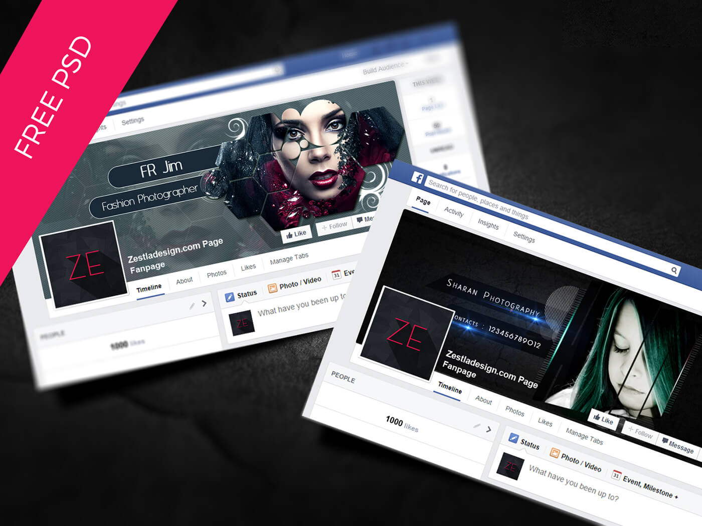 Facebook Cover Free Psd On Behance In Facebook Banner Template Psd