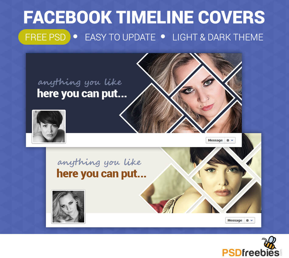 Facebook Timeline Covers Free Psd   Psdfreebies In Facebook Banner Template Psd