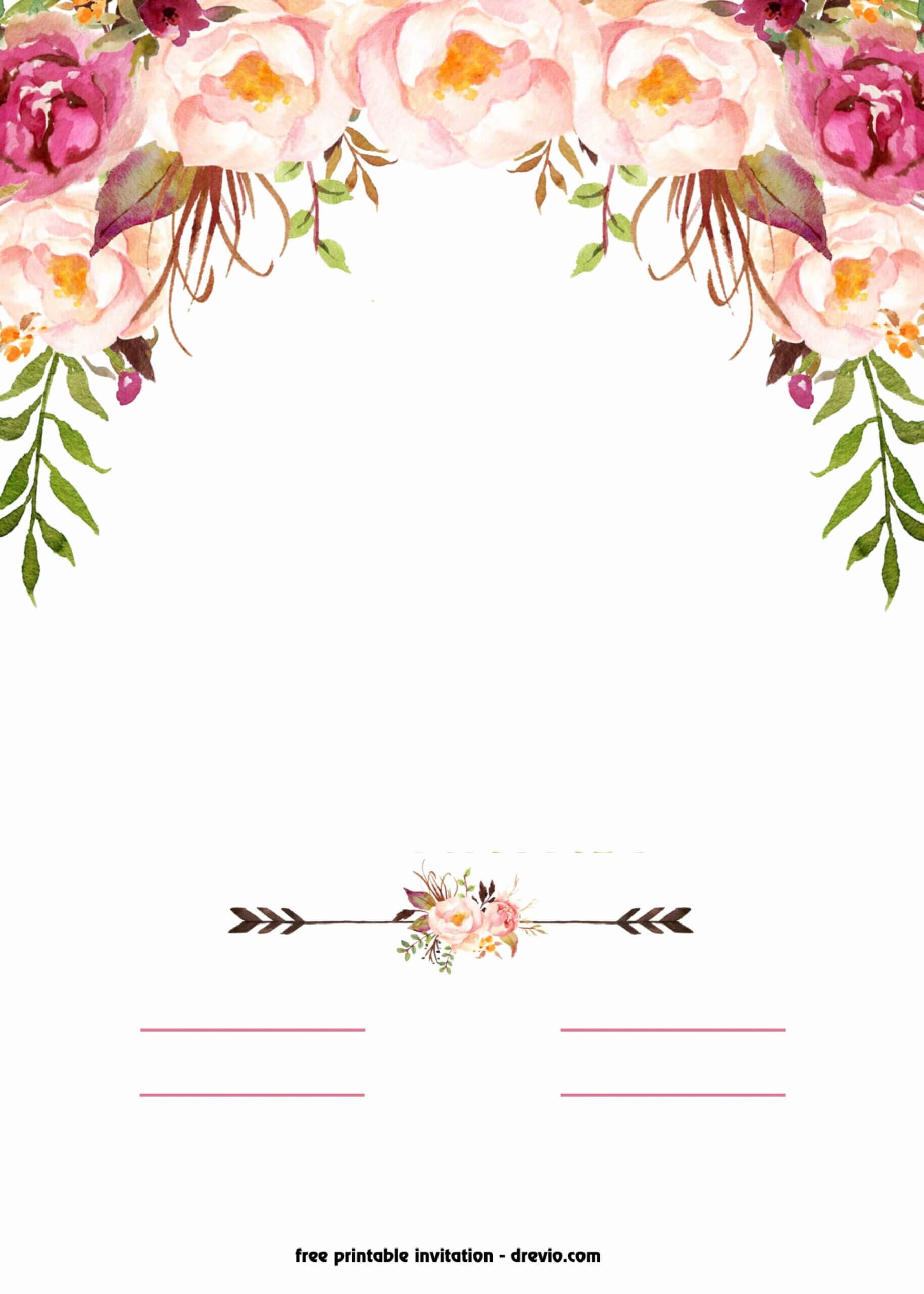 Fantastic Free Blank Invitation Templates Template Ideas Within Blank Templates For Invitations