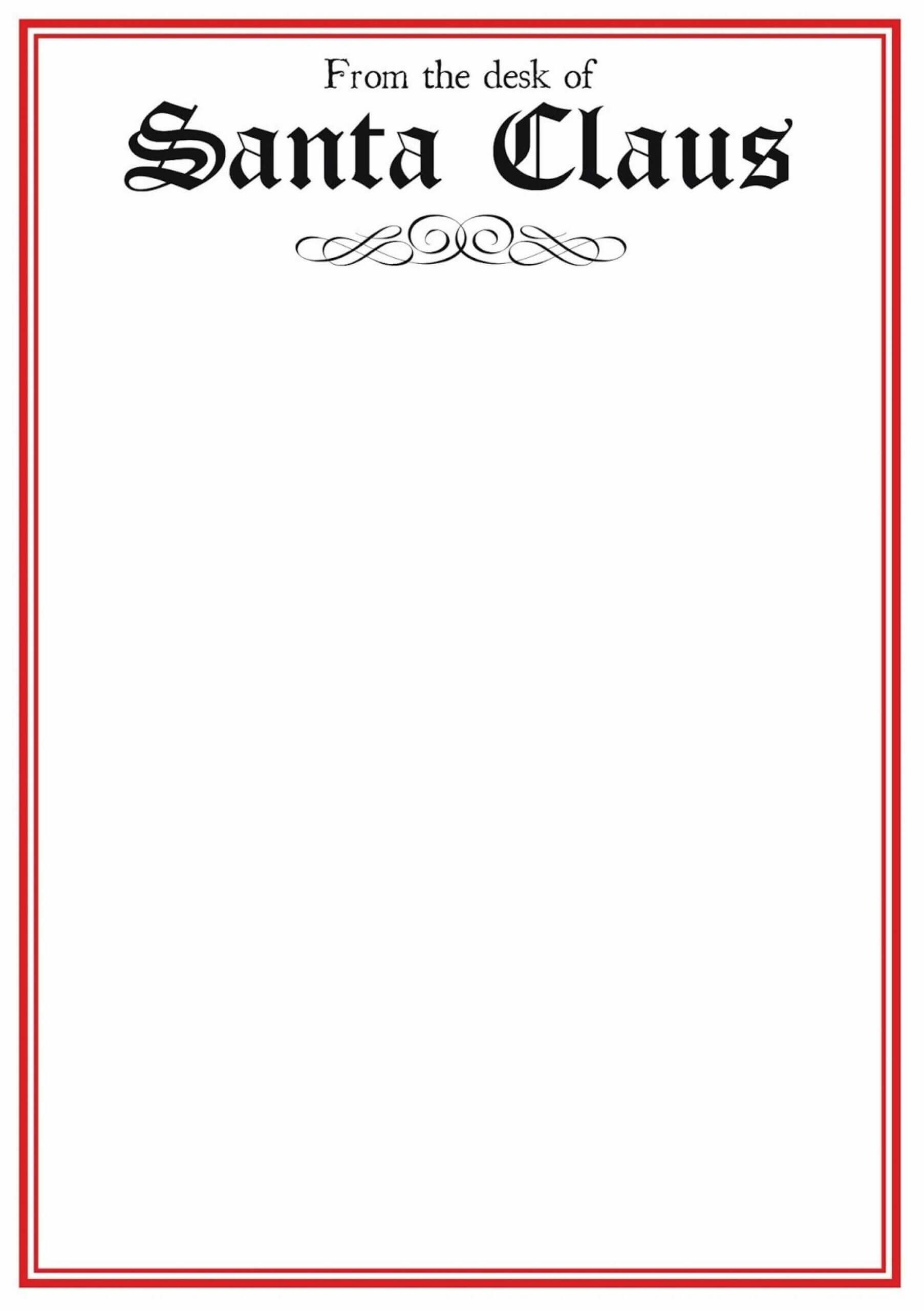 Fascinating Blank Letter From Santa Template Word Ideas With Blank Letter From Santa Template