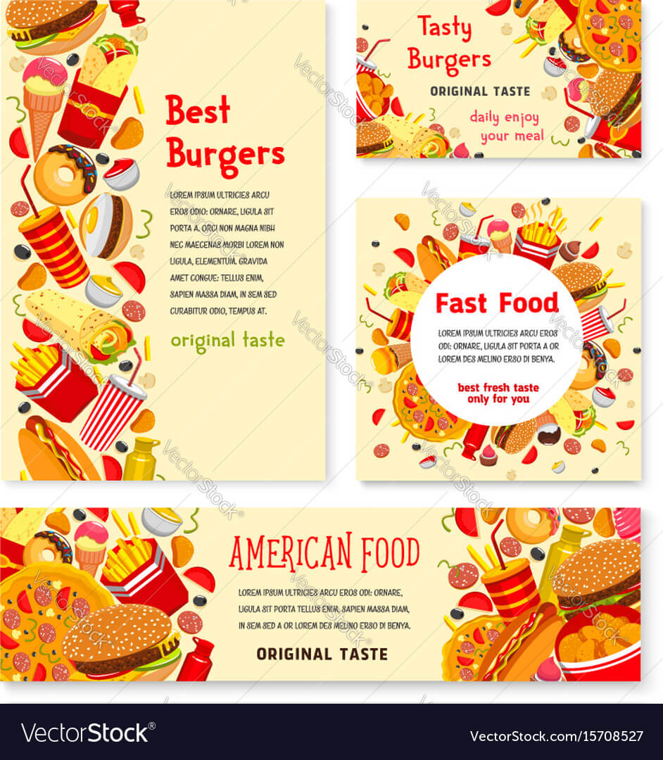 Fast Food Restaurant Banner And Poster Template In Food Banner Template