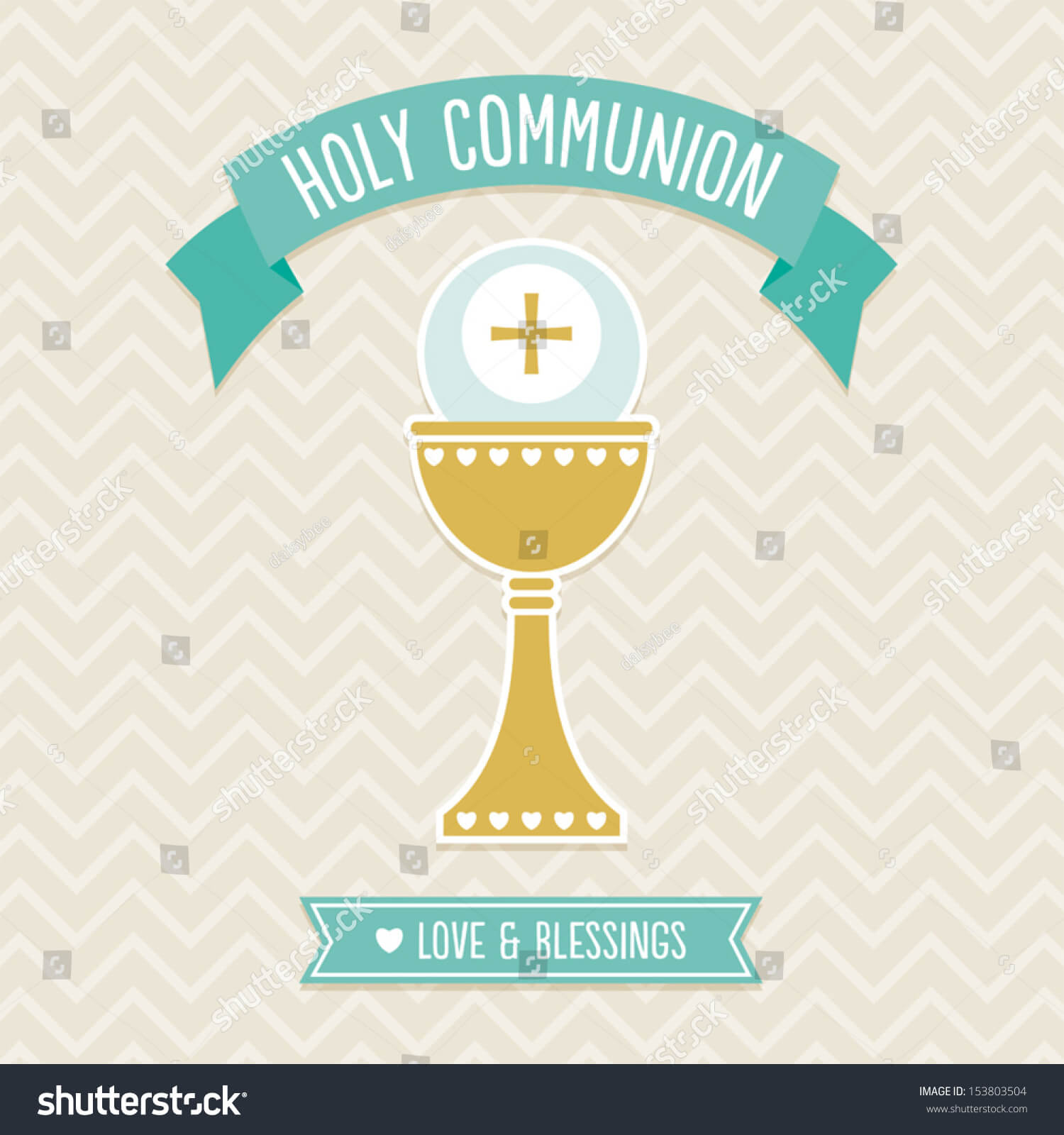 First Holy Communion Card Template Cream Stock Vector Intended For First Holy Communion Banner Templates