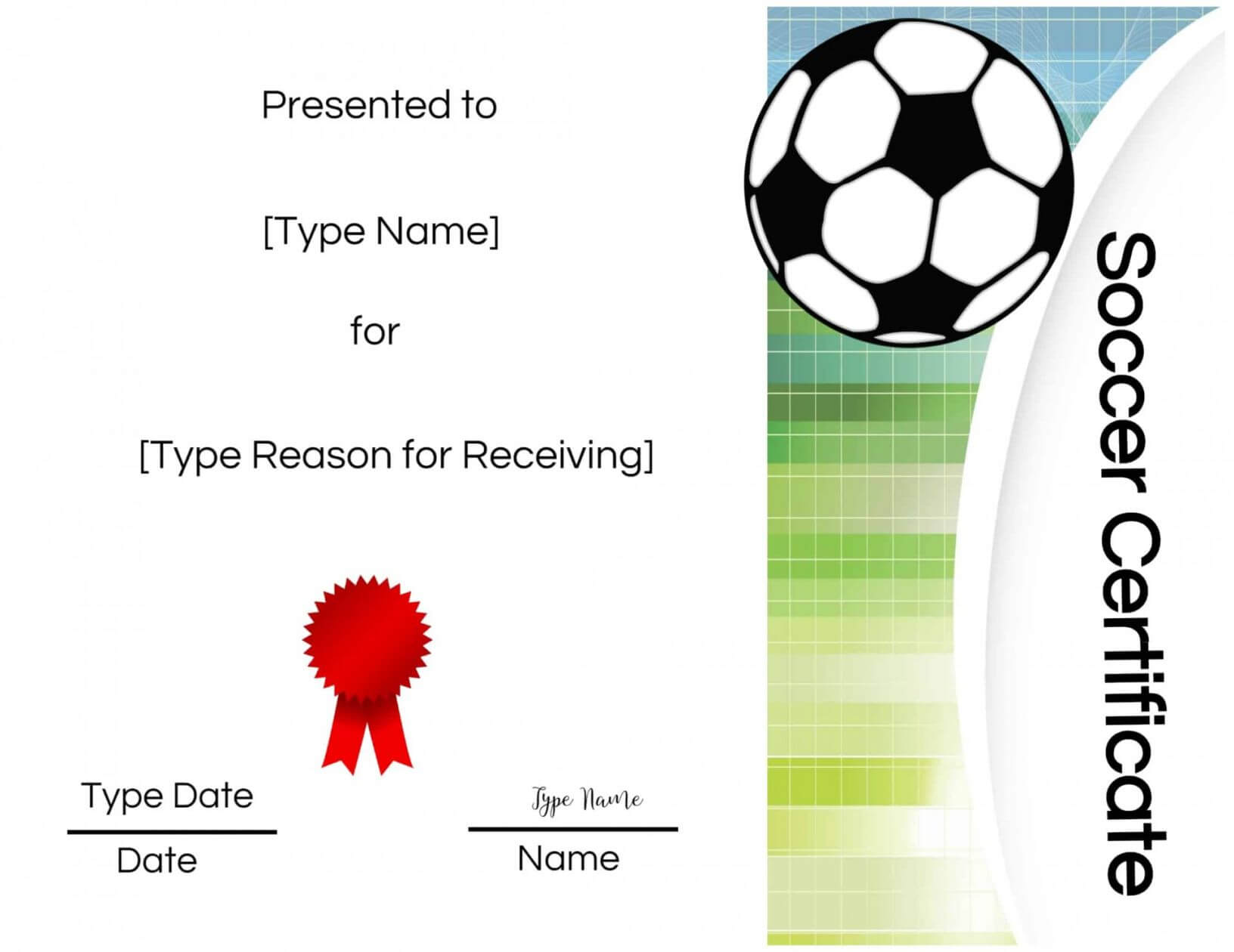 Five Top Risks Of Attending Soccer Award Certificate In Soccer Certificate Templates For Word