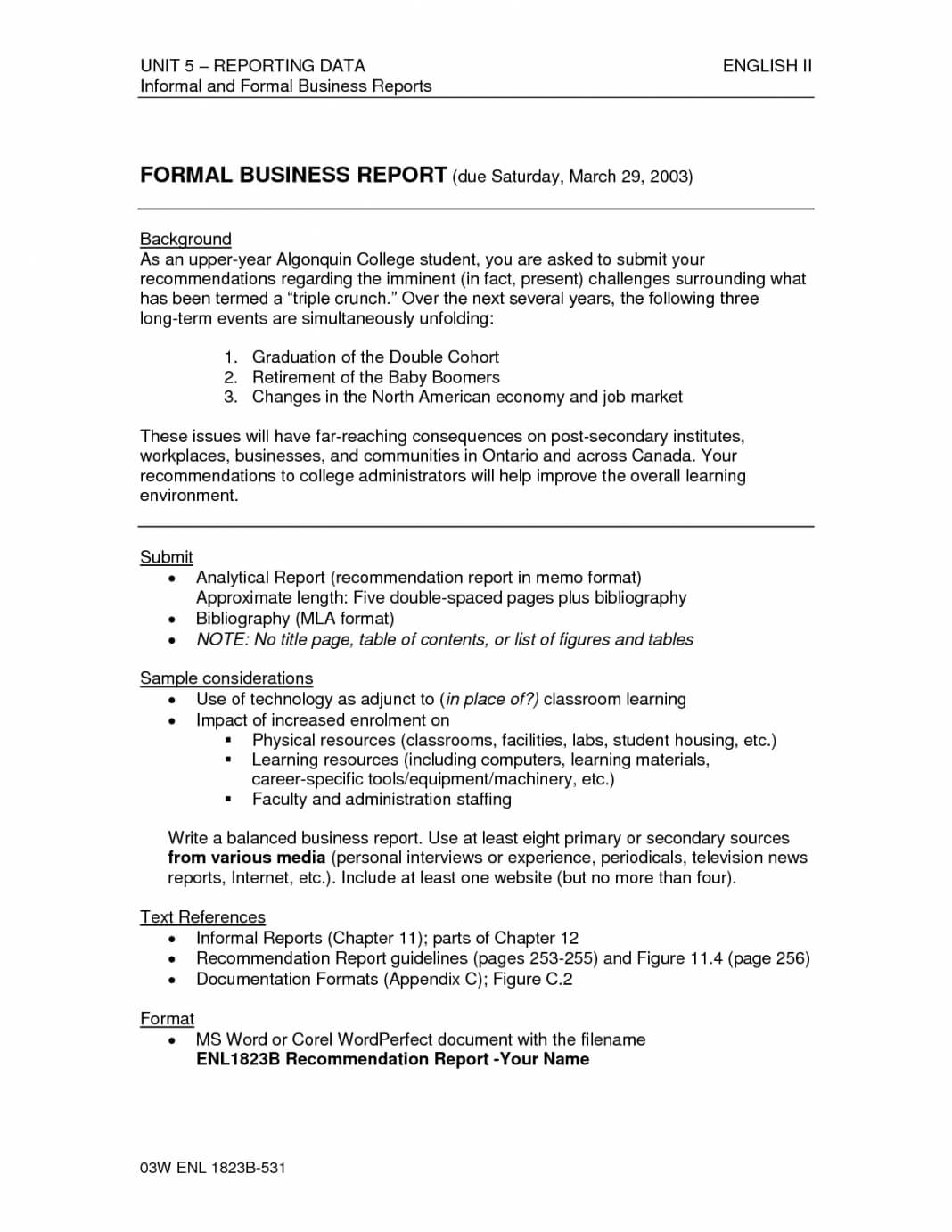 Formal Business Report Format Template Sample Pdf Ple Inside Company Report Format Template Report Writing Format Report Writing Formal Business Non profit organization bylaws template