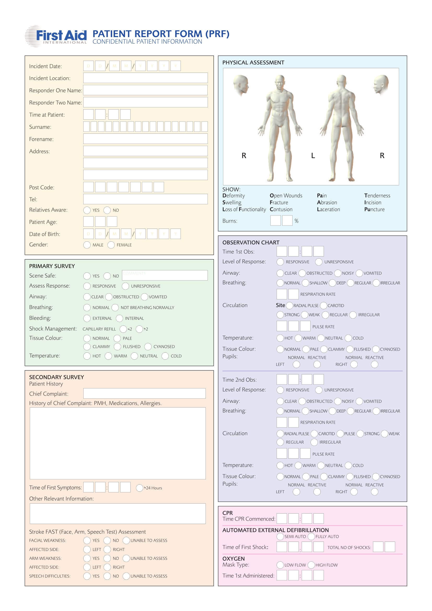 Free 14+ Patient Report Forms In Pdf | Ms Word Inside Patient Report Form Template Download