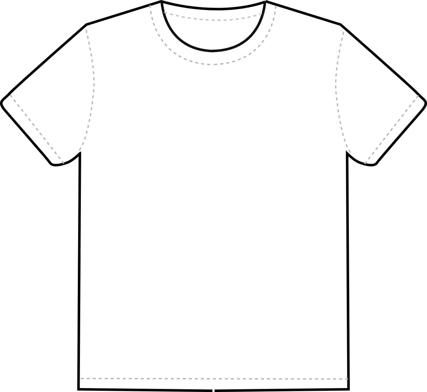 Free Blank T Shirt Outline, Download Free Clip Art, Free Throughout Blank T Shirt Outline Template