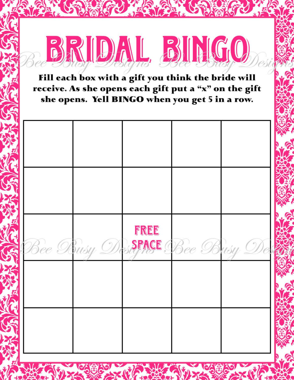 Free Bridal Bingo Template ] - Bridal Shower Bingo Template Pertaining To Blank Bridal Shower Bingo Template