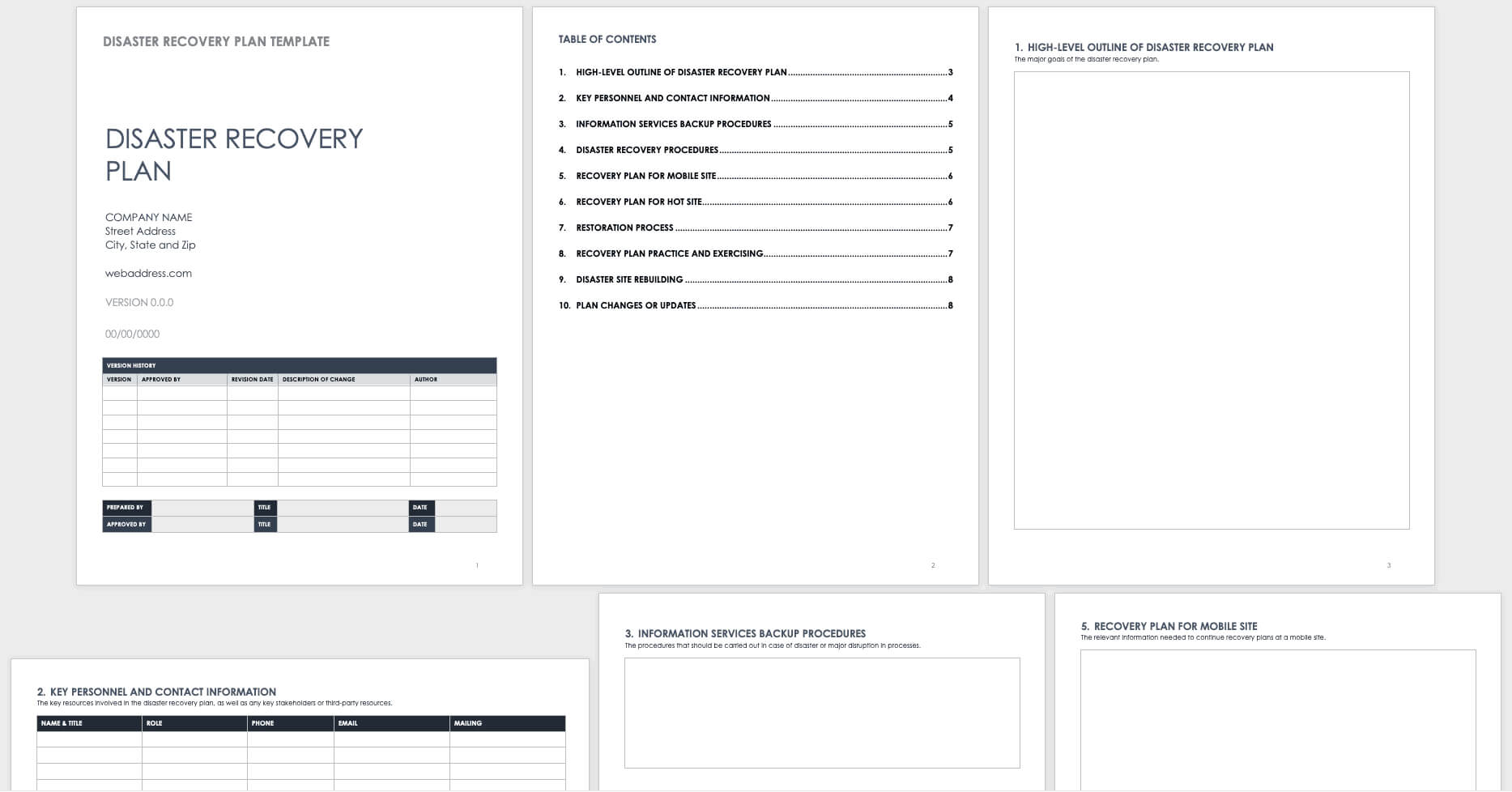 Free Disaster Recovery Plan Templates   Smartsheet For Dr Test Report Template
