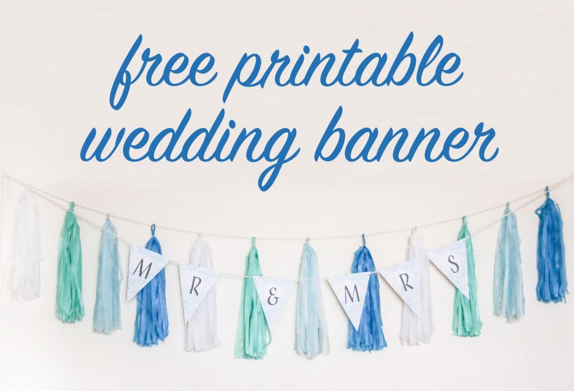 Free Diy Printable Wedding Banner Throughout Free Bridal Shower Banner Template
