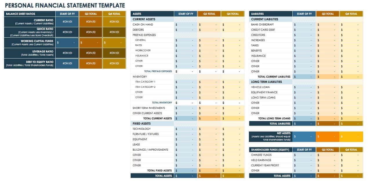 Free Financial Planning Templates | Smartsheet For Excel Financial Report Templates