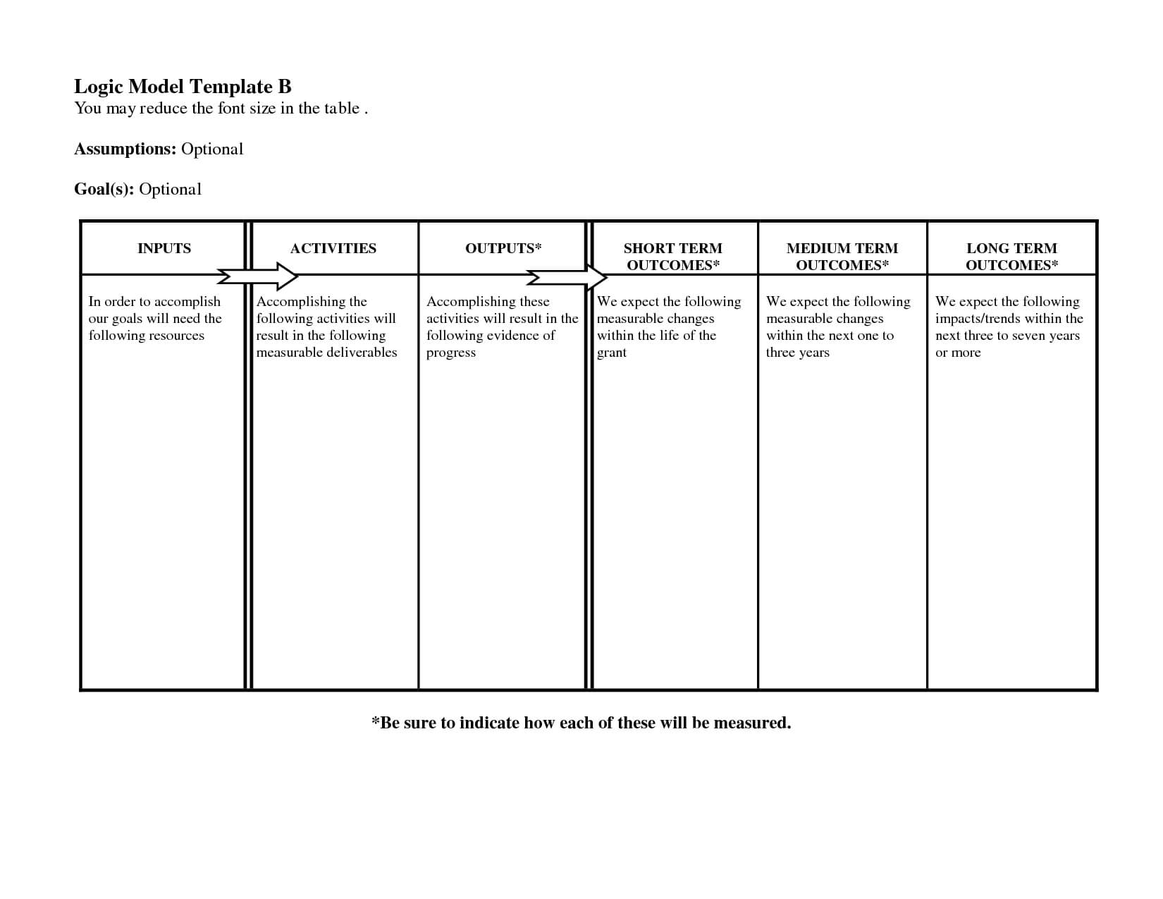 Free Logic Templates Download ] - Of Social Media Marketing Inside Logic Model Template Word