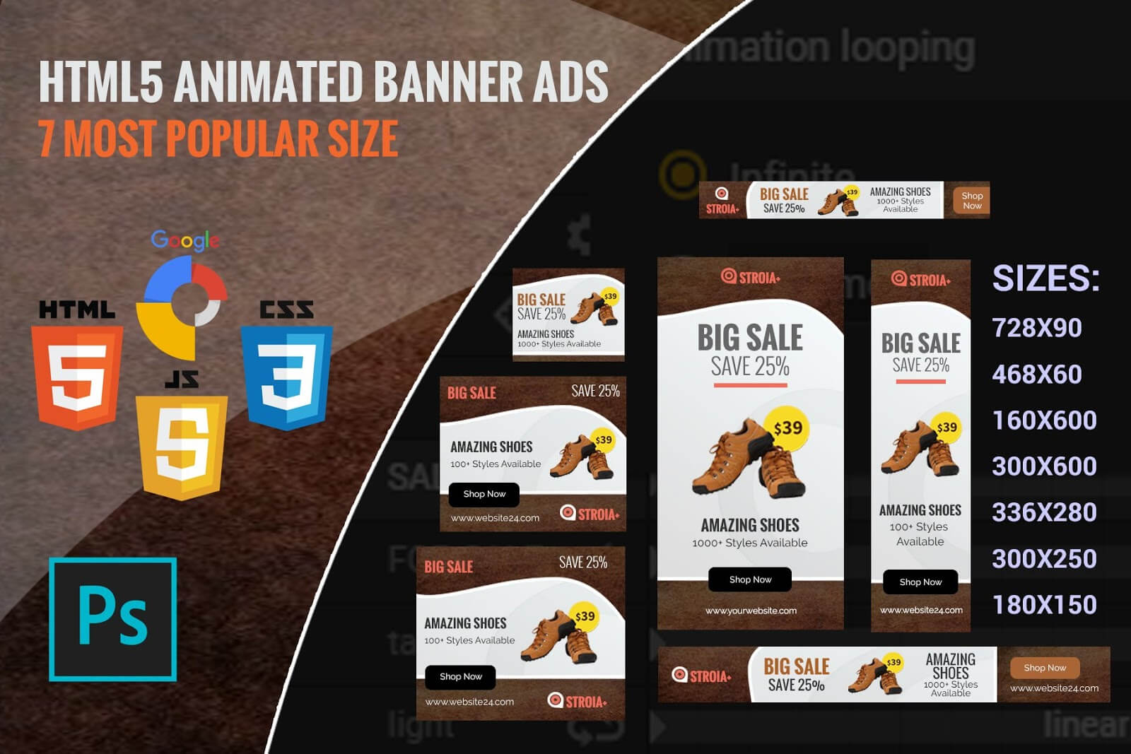 Free Marketing Product: Free Ad Templates | Shoping Html5 In Animated Banner Templates