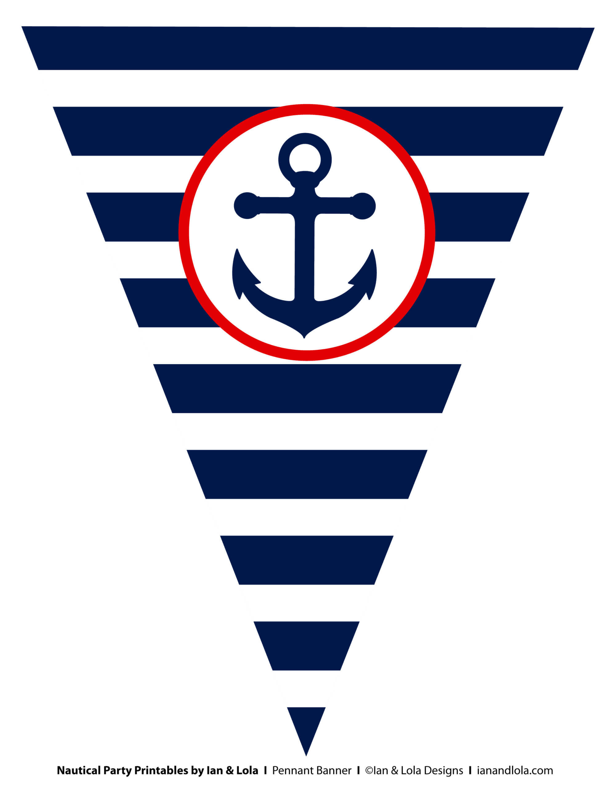 Free Nautical Party Printables From Ian & Lola Designs Throughout Nautical Banner Template