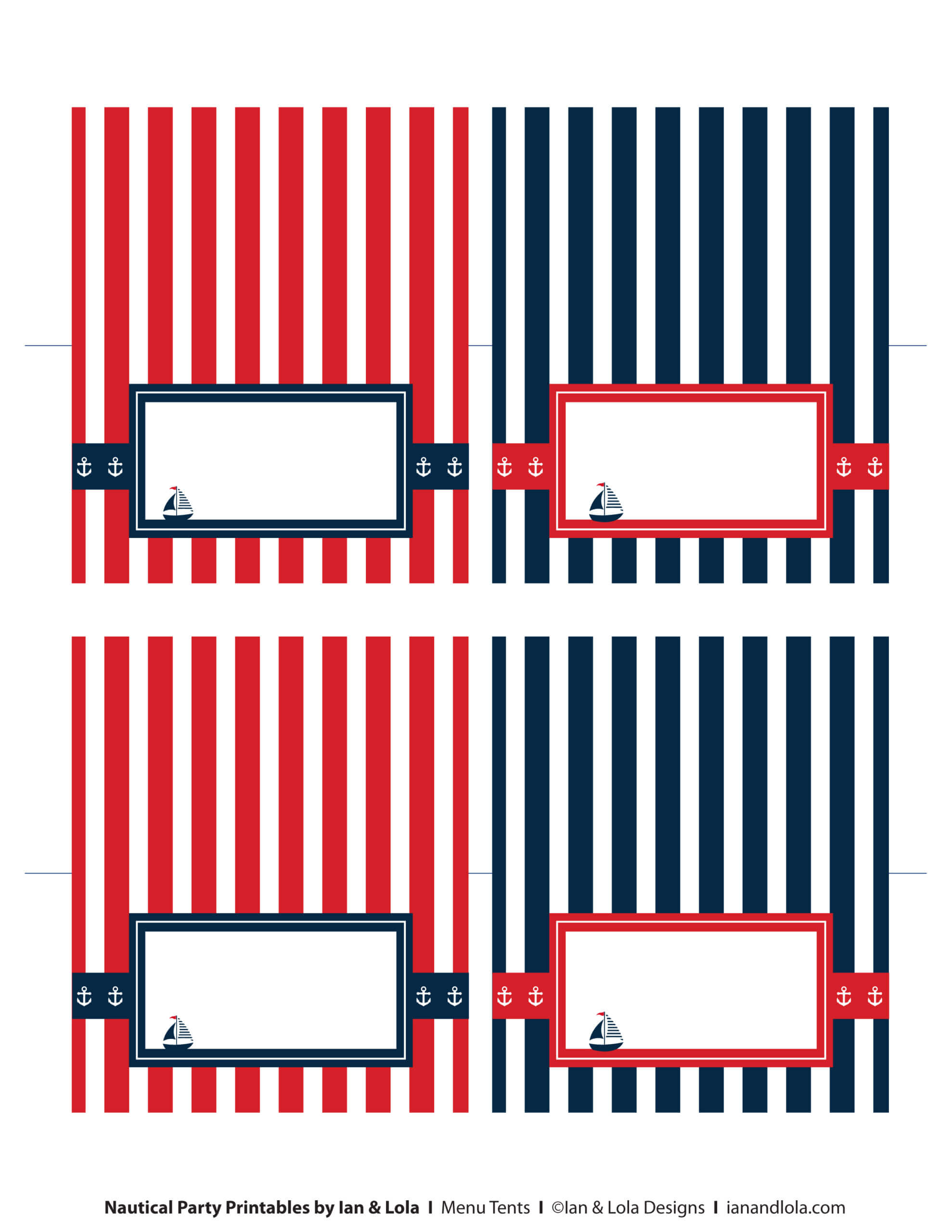 Free Nautical Party Printables From Ian & Lola Designs With Regard To Nautical Banner Template