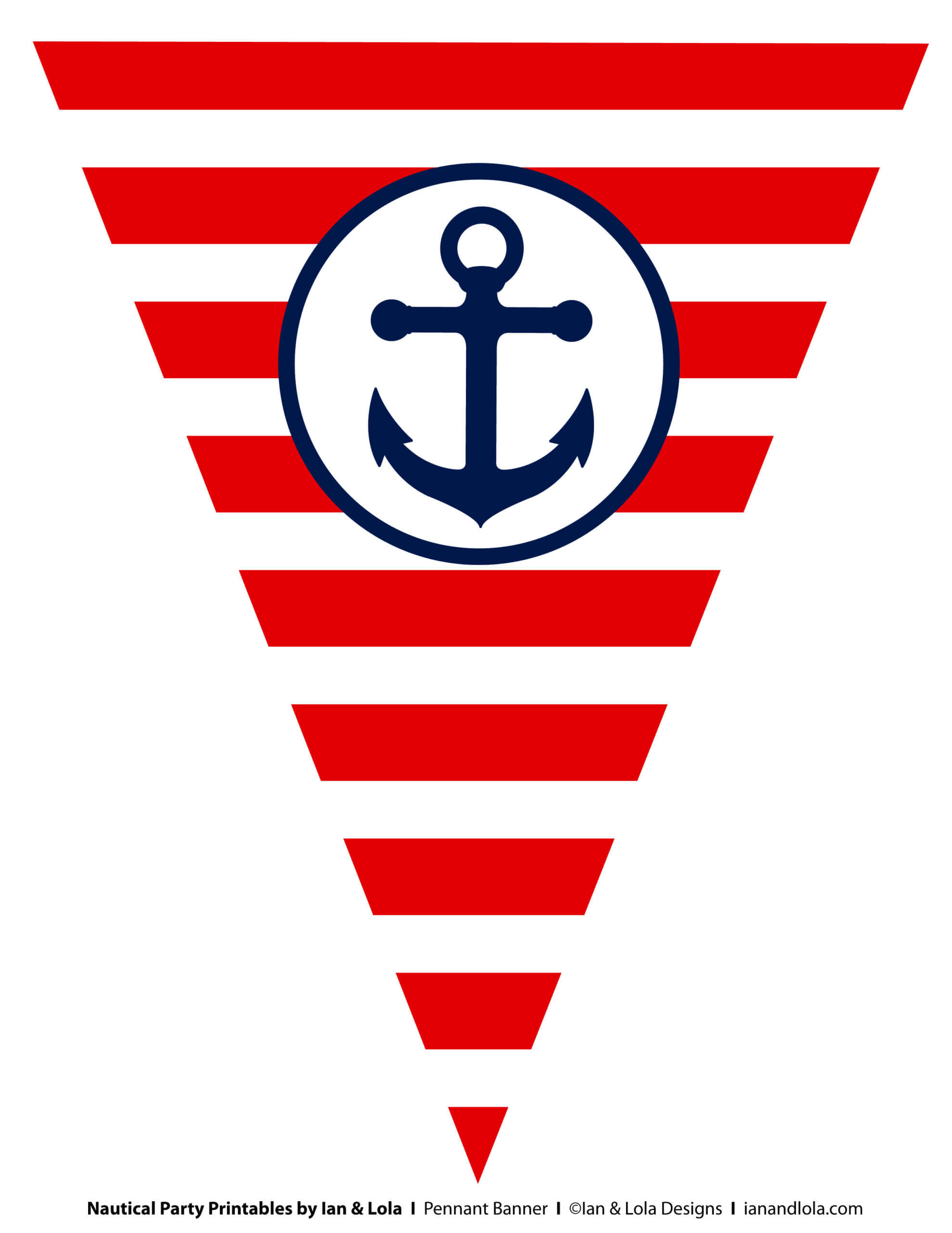 Free Nautical Party Printables From Ian & Lola Designs Within Nautical Banner Template