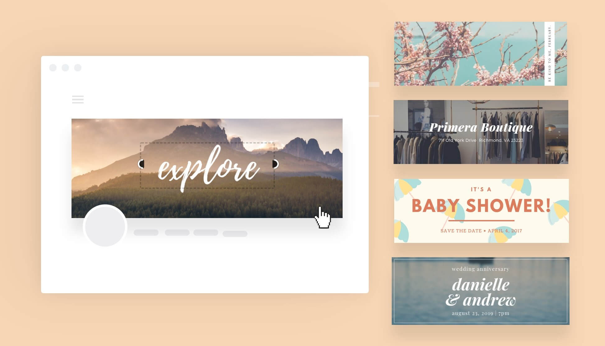 Free Online Banner Maker: Design Custom Banners In Canva Pertaining To Free Etsy Banner Template