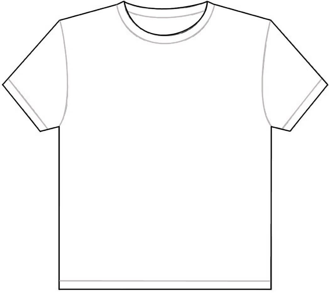 Free Outline Of A T Shirt Template, Download Free Clip Art Throughout Blank T Shirt Outline Template
