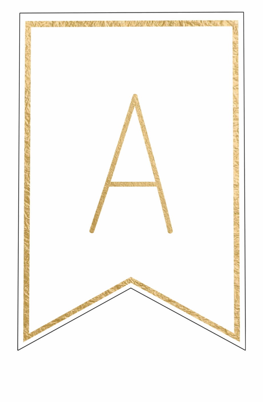 Free Printable Banner Letters Template - Letter Png Gold Within Free Letter Templates For Banners