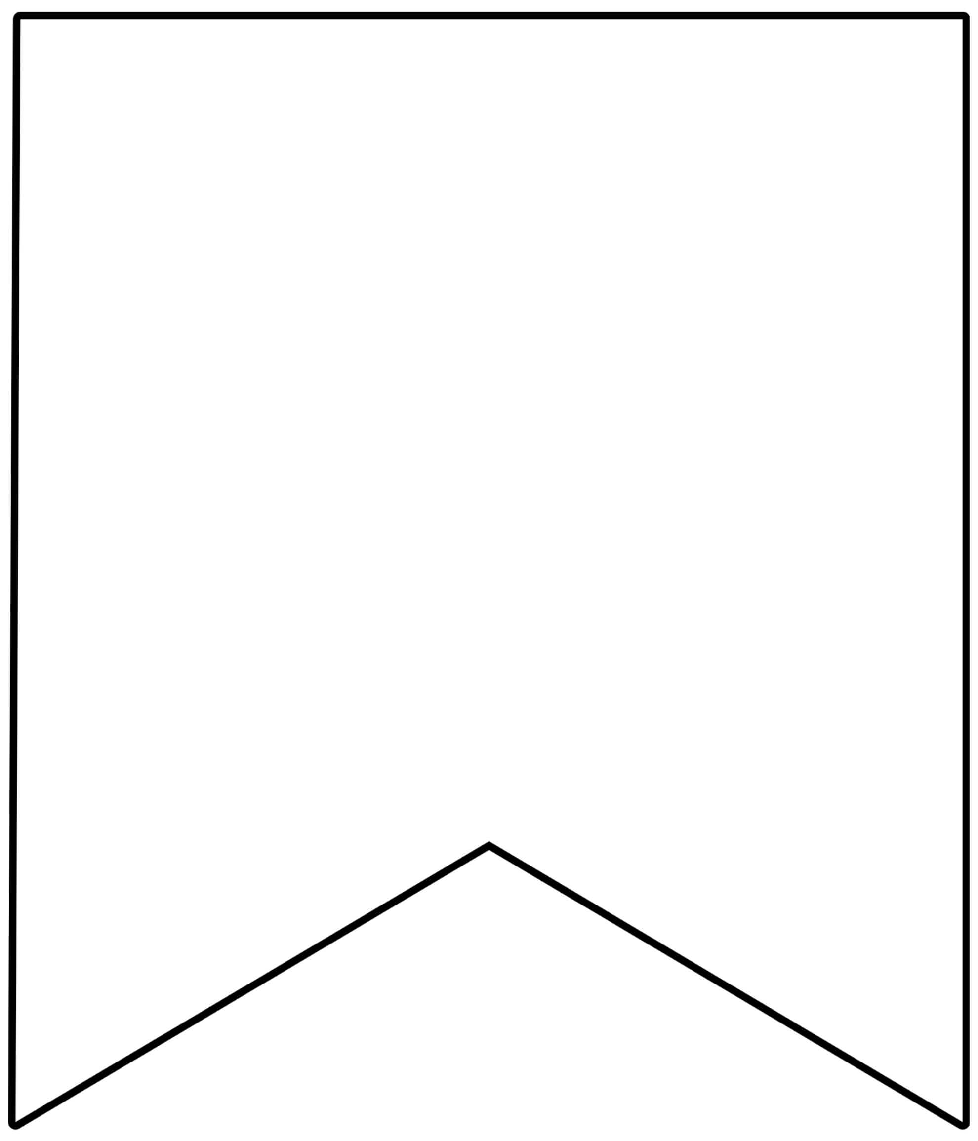 Free Printable Banner Templates {Blank Banners} - Paper With Regard To Triangle Pennant Banner Template