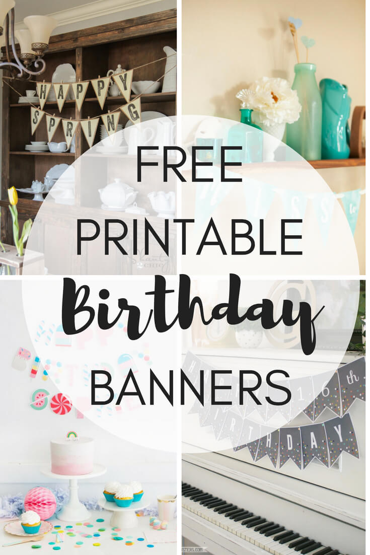 It's just a graphic of Free Printable Birthday Banner Templates within party banner design