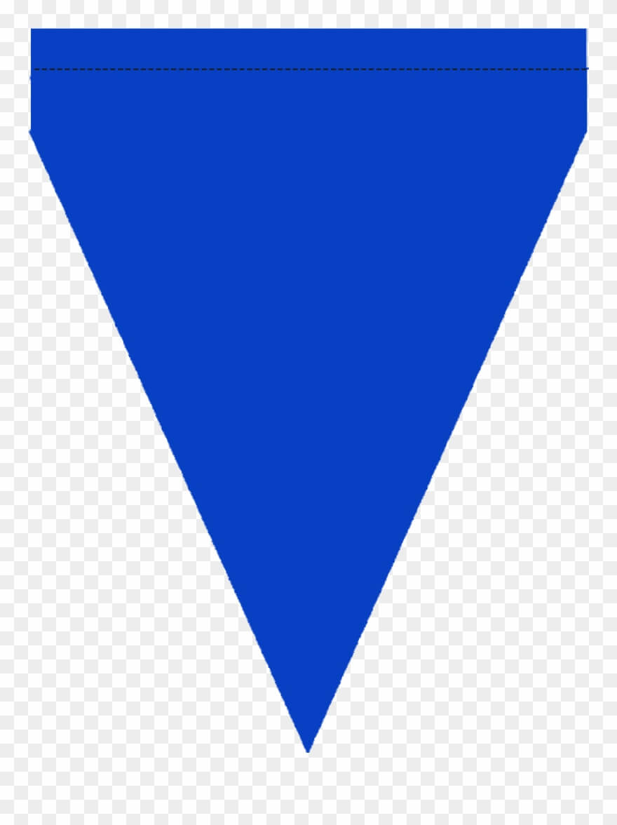 Free Printable Blue & Green Triangle Banner Template Regarding Triangle Banner Template Free