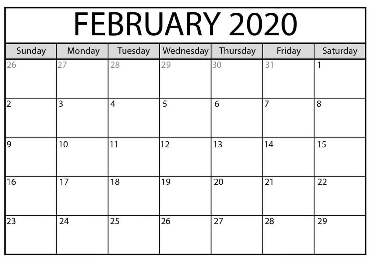 Free Printable Calendar Templates 2020 For Kids In Home Intended For Blank Calendar Template For Kids
