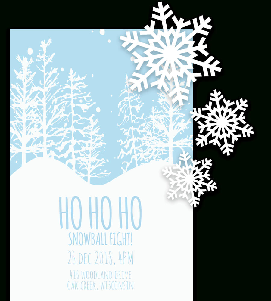 Free Printable Christmas Invitation Templates In Word! With Regard To Free Christmas Invitation Templates For Word