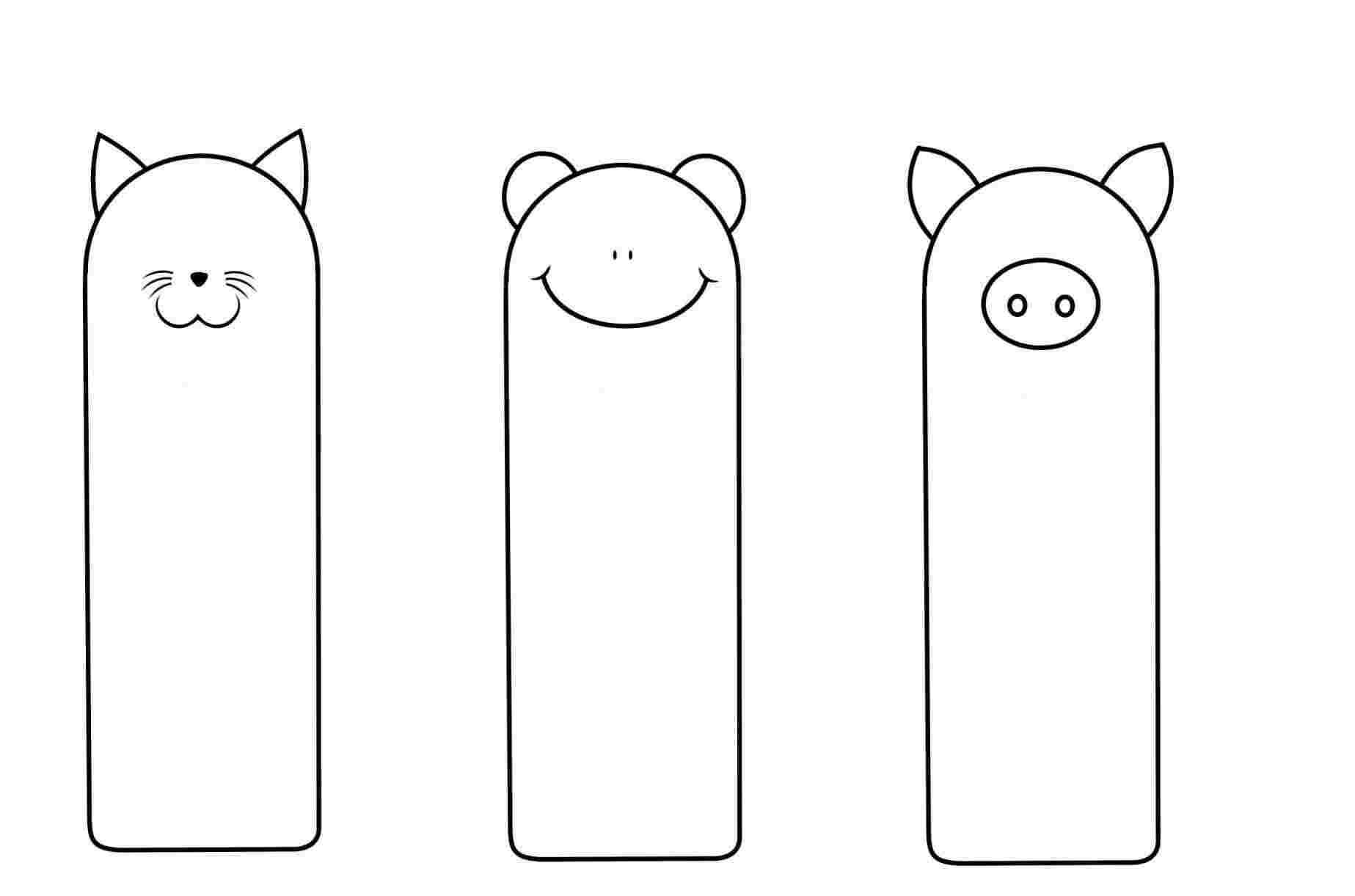 Free Printable Coloring Bookmarks Templates Printable With Free Blank Bookmark Templates To Print