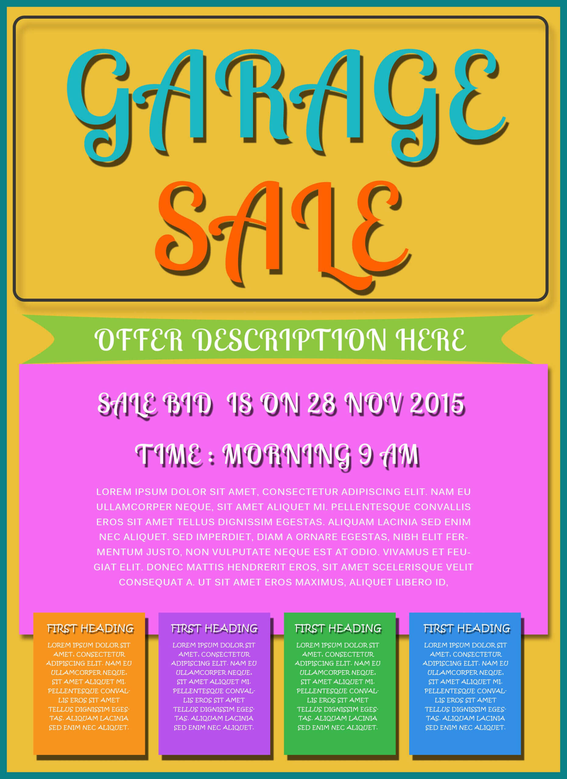 Free Printable Garage Sale Flyers Templates - Attract More Pertaining To Yard Sale Flyer Template Word